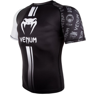 Venum Férfi thermo póló - Logos Rashguard - Fekete / fehér, VENUM
