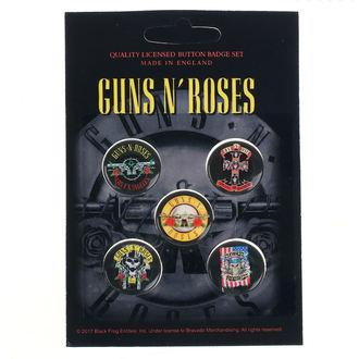 Guns N' Roses Kitűzők - Bullet Logo - RAZAMATAZ, RAZAMATAZ, Guns N' Roses