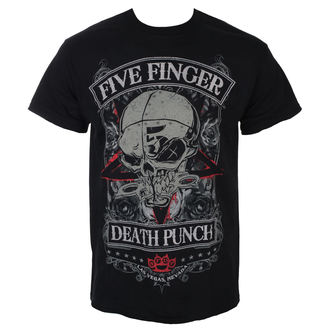 Five Finger Death Punch Férfi póló - Wicked - Fekete - ROCK OFF, ROCK OFF, Five Finger Death Punch