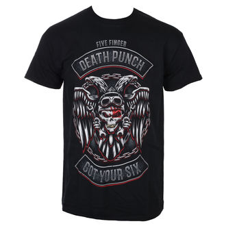 Five Finger Death Punch Férfi póló - Biker Badge - Fekete - ROCK OFF, ROCK OFF, Five Finger Death Punch