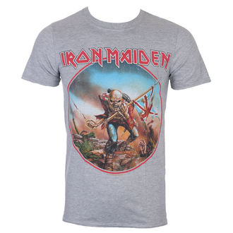 Iron Maiden Férfi póló - Trooper - szürke - ROCK OFF 6c19dbb293