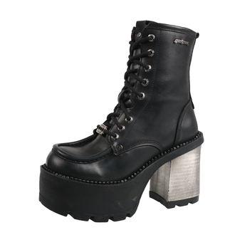 magassarkú cipő női - ITALI NEGRO, ITALI NEGRO, RIBETE NEGRO - NEW ROCK, NEW ROCK