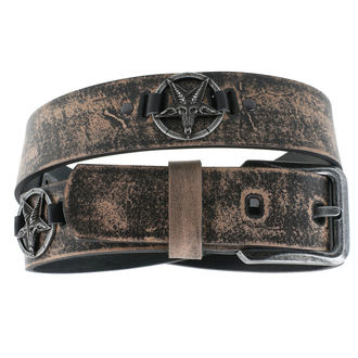 Öv Baphomet - brown, JM LEATHER