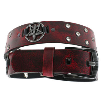 Öv Pentagram Kereszt - red, JM LEATHER