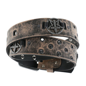 Pentagram Öv - brown, Leather & Steel Fashion