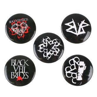 Black Veil Brides kitűzők - RAZAMATAZ, RAZAMATAZ, Black Veil Brides