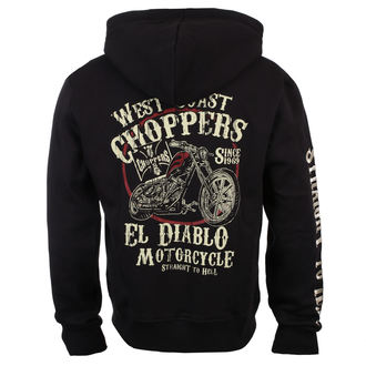 kapucnis pulóver férfi - EL DIABLO - West Coast Choppers, West Coast Choppers