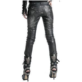 PUNK RAVE Női nadrág- Therion - fekete / ezüst, PUNK RAVE