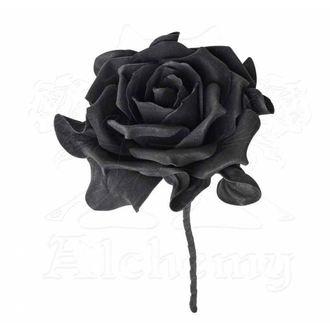 ALCHEMY GOTHIC Dekoráció - Single Black Rose with Stem, ALCHEMY GOTHIC