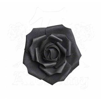 Dekoráció ALCHEMY GOTHIC - Small Black Rose Head, ALCHEMY GOTHIC