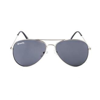 MEATFLY Napszemüveg - SCOTT - A - 4/17/55 - Ezüst - Fekete, MEATFLY