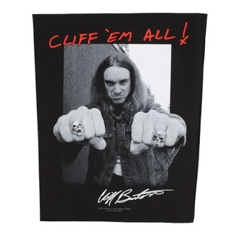 Metallica Nagy méretű tapasz - Cliff Em Aill - RAZAMATAZ, RAZAMATAZ, Metallica