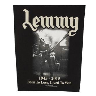 Motörhead nagy felvarró - Lemmy - Lived To Win - RAZAMATAZ, RAZAMATAZ, Motörhead