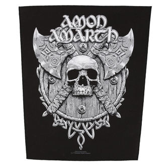 AMON AMARTH nagy felvarró - SKULL AND AXES - RAZAMATAZ, RAZAMATAZ, Amon Amarth