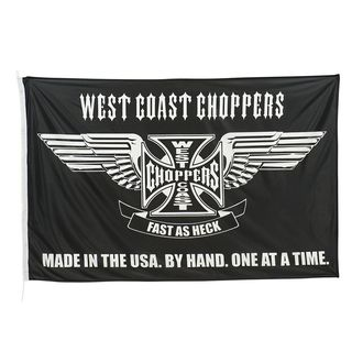 Zászló WEST COAST CHOPPERS - CROSS STATEMENT - FEKETE, West Coast Choppers