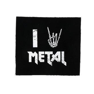 I love metal felvarró