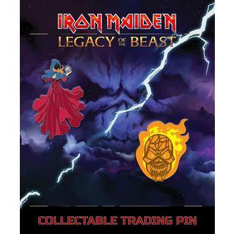Iron Maiden Kitűzők - Legacy of the Beast - Látnok & vesszőfonás Férfi, Iron Maiden