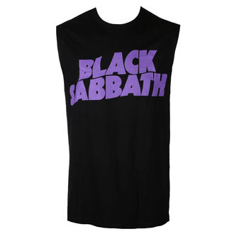 BLACK SABBATH Férfi Felső  - PURPLE LGO - BRAVADO, BRAVADO, Black Sabbath