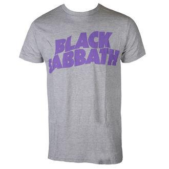 metál póló férfi Black Sabbath - PURPLE LGO T GRY - BRAVADO, BRAVADO, Black Sabbath