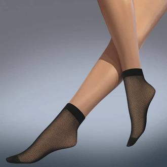 LEGWEAR zokni (harisnyanadrág)- fishnet ankle highs - fekete, LEGWEAR