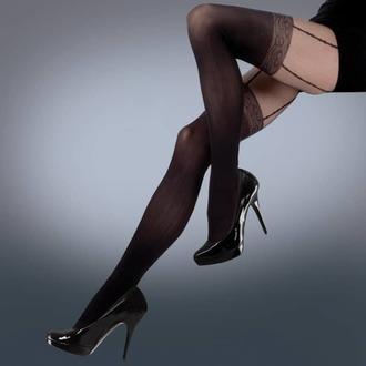 LEGWEAR harisnyanadrág- mock lace suspender - fekete, LEGWEAR
